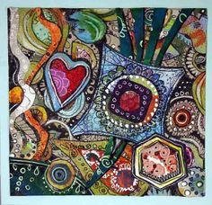 Greeting Card Party original artwork by PeonyAndParakeet on Etsy, €14.00