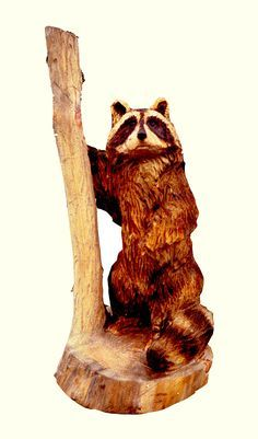 Artisans of the Valley feature Chainsaw Carving by Bob Eigenrauch - Standing Racoon