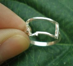 MT Montana State Silver Ring  Montana Outline Map Ring by yhtanaff, $35.00  #montana #state #unitedstates