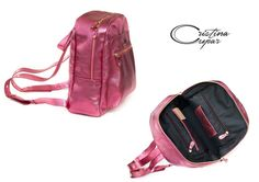 Metal pink leather...