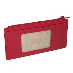 Buxton Women's Leather Thin Card Case Wallet