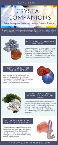 Crystal Companions: Stone Pairings for Creativity, Spiritual Growth, & More - https://loveandlightschool.com/crystal-companions-stone-pairings-for-creativity-spiritual-growth-more/