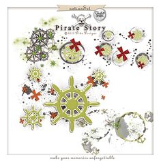 Pirate Story Notion Set {ready to use overlays} by Dido Designs.