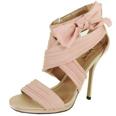 Wholesale Qupid Shoes women one band flower on ankle strap pump. DEMAND-231