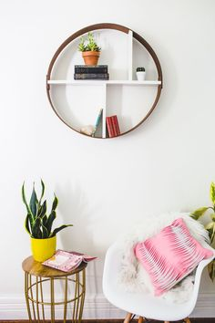 Hoop shelf (click to learn how easy it is to make it in an hour) - step by step Photo tutorial - Bildanleitung