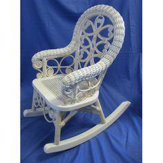 Millie Wicker Child Rocking Chair White Amp Pink Amp Green