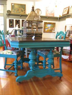Florence chalk paint dining table and chairs