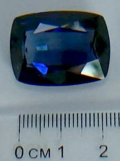 """48 carat lab-created blue sapphire from """"19 Big Secrets About Astro Gems"""" available on Amazon, or go to astrogembook.com"""