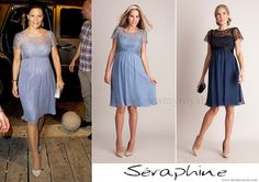 """Crown Princess Victoria of Sweden and Prince Daniel of Sweden attended a reception hosted by the Mayor of Cartagena on October 21, 2015 in Cartagena. Details here.. The Crown Princess wore SERAPHINE Silk and Lace Special Occasion Dress – is available now in LUXE collection.. The Special Occasion Maternity Dress retails for £159.00 on the """"SERAPHINE"""" website"""