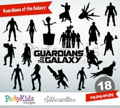 Guardians of the Galaxy Silhouettes, SVG Guardians of the Galaxy, Instant Download, svg, png, jpg and eps file types included, PS-318.
