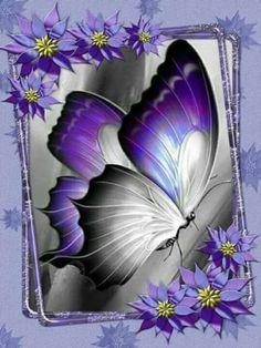 Hotsale Diamond Painting Kit - DIY Custom Kits 301 – Vanilla and Cinnamon Purple Butterfly, Butterfly Flowers, Beautiful Butterflies, Beautiful Flowers, Butterfly Painting, Butterfly Wallpaper, Butterfly Drawing, Purple Love, All Things Purple