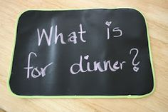 chalk cloth placemats! great for kids of all ages.