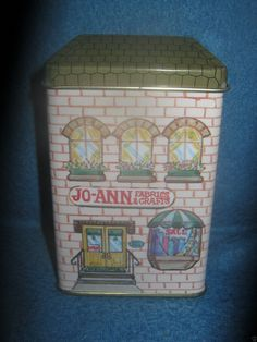 Jo Ann Fabrics Crafts Mini Collectible Tin Store House with Items Inside 1994 | eBay