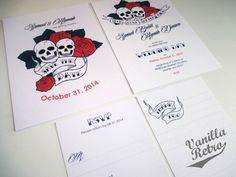 PRINTABLE Skull Tattoo Rockabilly Wedding by VanillaRetro on Etsy, £55.00