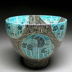 11 Web Turquoise Bowl -  Marcy Neiditz
