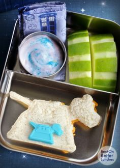 Happy Anniversary Doctor Who! from 'Bent on Better Lunches'...For more creative ideas for school lunches visit https://www.facebook.com/SchoolLunchIdeas