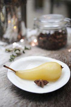 Inlagda päron med vanilj och ingefära - Mitt kök
