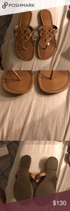 Tory burch Miller Sandals Used sandals. Some wear to them! so much life left. Let me know if you have any questions Tory Burch Shoes Sandals