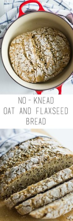 Try this wholesome no-knead oat and flaxseed bread. It's simple to make and tastes delicious! Crisp on the outside, soft inside.