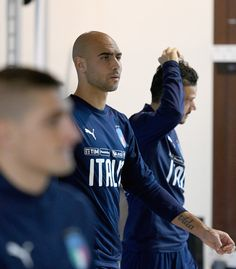 Simone Zaza of Italy looks on during a training session at Italy club's training ground at Coverciano on November 6, 2017 in Florence, Italy.