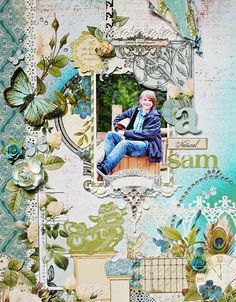 this scrapbook page is too gorgeous for words!