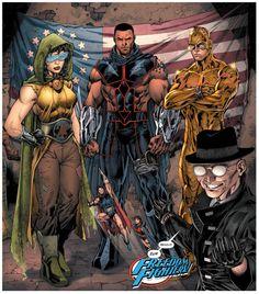 Multiversity: Mastermen - Freedom Fighters from Earth 10 by Jim Lee First Superhero, Superhero Shows, Batman Vs, Superman, Dc Comics Art, Marvel Dc Comics, Marvel Vs, Comic Book Artists, Comic Books Art