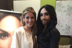 Η Μαρία Έλενα Κυριάκου συναντά την Conchita Wurst !!! (Φωτογραφίες και Video) #eurovision #conchita #wurst #kiriakou #party
