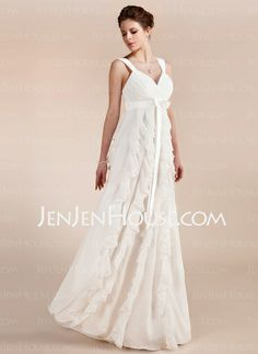 Wedding Dresses - $139.19 - Empire Sweetheart Floor-Length Chiffon Wedding Dress With Ruffle (002011682) http://jenjenhouse.com/Empire-Sweetheart-Floor-Length-Chiffon-Wedding-Dress-With-Ruffle-002011682-g11682