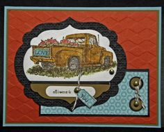 Old Truck Mancard by 3boymom - Cards and Paper Crafts at Splitcoaststampers