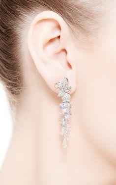 Butterfly Garden Briolette Sapphire And Diamond Earrings by Anna Hu Haute Joaillerie for Preorder on Moda Operandi 32 000