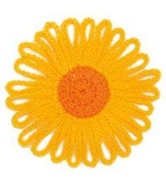 Free Crochet Flower Patterns | myLifetime.com - Shown Here: Sunny Flower ~k8~