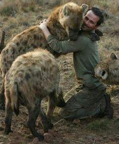 Hyena hugs