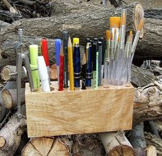 Make my own with wood from a craft store and a drill - paint a cool color.