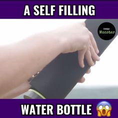 WOW THIS SELF FILLING WATER BOTTLE IS AMAZING This Water Bottle gives you fresh water when you need it Tag a friend who would love this