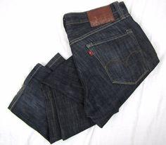 Levis Capital E Hesher Jeans 32 x 31 Regular Straight Leg Dark Wash Denim USA #Levis #ClassicStraightLeg