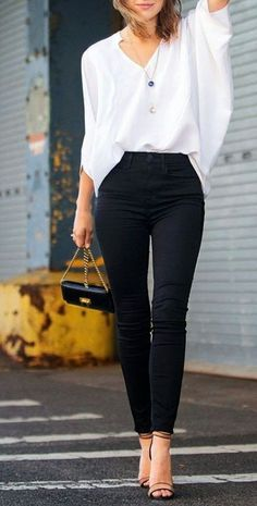 Casual work attire Love the blouse!