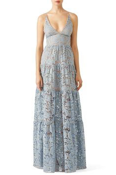 Rent Blue Melina Lace Maxi by Dress The Population for $40 only at Rent the Runway.