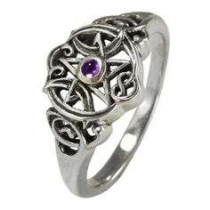 Unique and stylized Celtic Knot and Pentacle rings by Paul Borda of Dryad Design, perfect for engagement, handfasting and wedding bands.