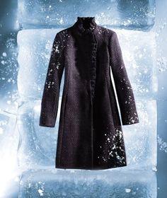 I love my DKNY tweed coat (Real Simple magazine)