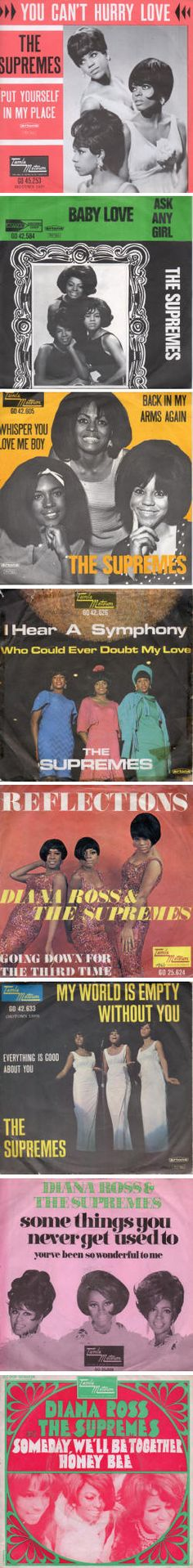 The Supremes — Foreign 45 rpm Record Sleeves