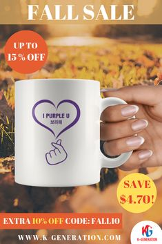 💜 ARMY, make a nice cup of tea with this very sweet Mug!  ⚠️ **Sold out in 10 hours last time** 😢 Our sale is ending today - HURRY NOW!  ⏰ Take Extra 10% Off with Code: ✂️➖FALL10➖✂️  👆 CLICK IMAGE TO SHOP👆  #mugbts #ipurpleyou #ipurpleu #ipurpleyoutaehyung #ipurpleyoubts #ipurpleu💜#ipurpleyouday #thebangtanboys