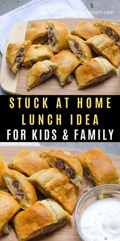 Mar 2020 - Stuck at Home Lunch Idea for Kids and Family - Stuffed Sausage Biscuits with Habanero Cheese and Apples are a quick and easy kids lunch idea while stuck at home. Lunch Ideas Kids At Home, Easy Lunches For Kids, Toddler Lunches, Kids Meals, Easy Meals, Quick Work Lunch Ideas, Easy Recipes For Kids, Quick Lunch Recipes, Simple Recipes