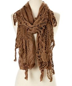 Another great find on #zulily! Brown Linen-Cashmere Blend Scarf by Pretty Angel #zulilyfinds