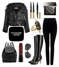 """""""Demon"""" by slytherinemily on Polyvore featuring Balenciaga, Citizens of Humanity, Noir Jewelry, Christian Louboutin, Yves Saint Laurent, Witchery, MAC Cosmetics and Burberry"""