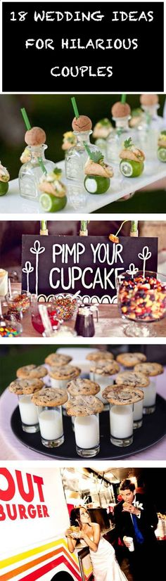 18 Wedding Ideas for Hilarious Couples - Check out these hilarious and clever ways couples made their wedding guests smile.