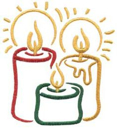 Candles (Christmas Brushstrokes) #machineembroidery #christmas #holidays