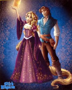 Disney Fairytale Couples Collection by Disney Store Rapunzel and Flynn Rider/ Eugene Fitzherbert