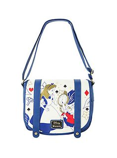 Loungefly Disney Alice In Wonderland Crossbody Double Buckle Bag,