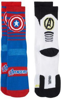Kohl's Boys Marvel The Avengers 2-Pack Athletic Socks