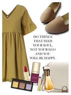 """stay gold!"" by elliewriter ❤ liked on Polyvore featuring Dolce&Gabbana, Christian Dior, Too Faced Cosmetics and Kevyn Aucoin"